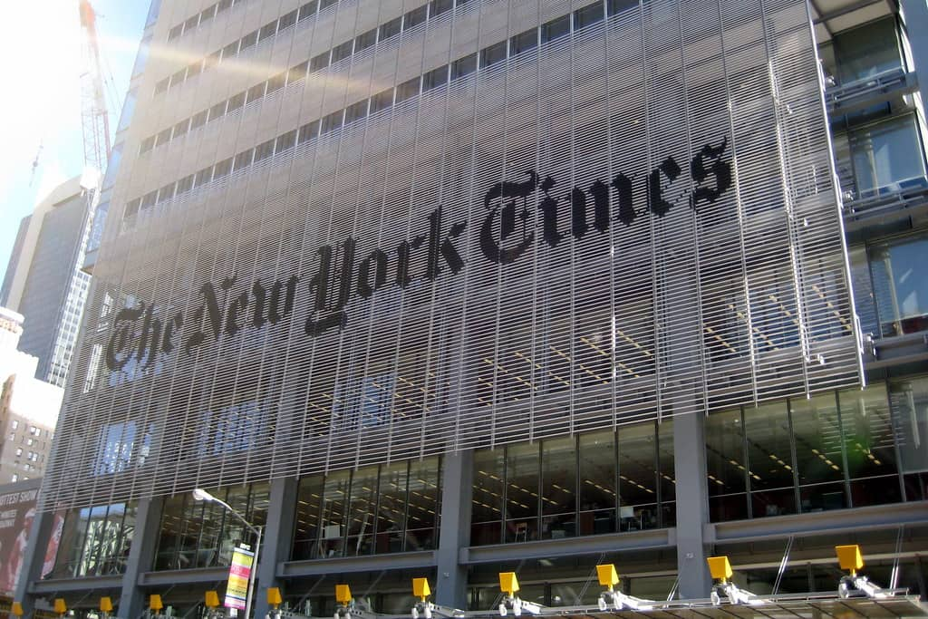 """NYC: New York Times Building"" by wallyg is licensed under CC BY-NC-ND 2.0"